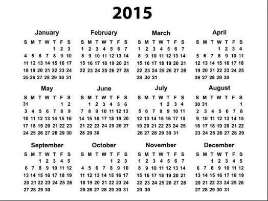 2015 LGC Calendar